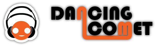 logo dancing comet